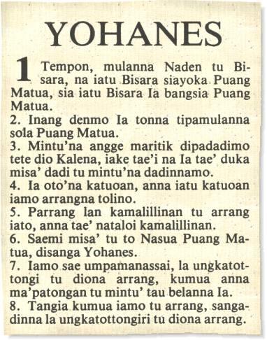 pejalaran bahasa toraja